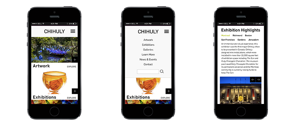 Chihuly mobile screens