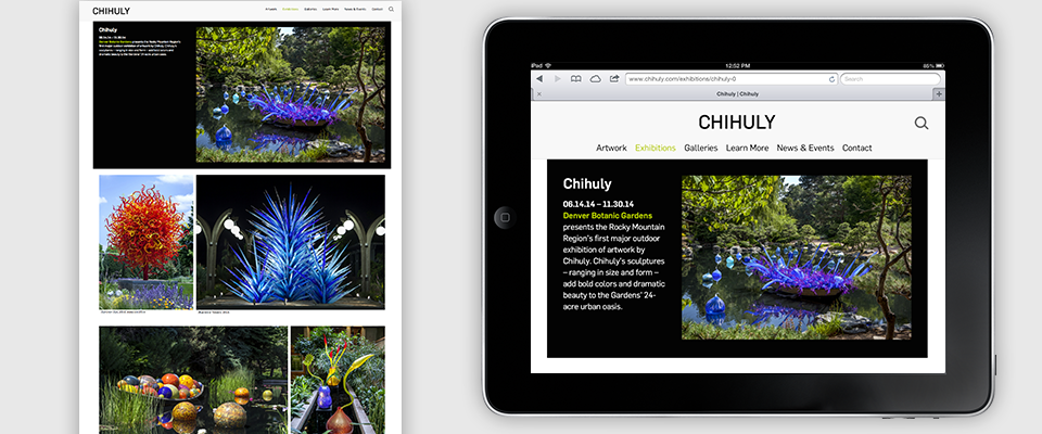 Chihuly desktop and tablet