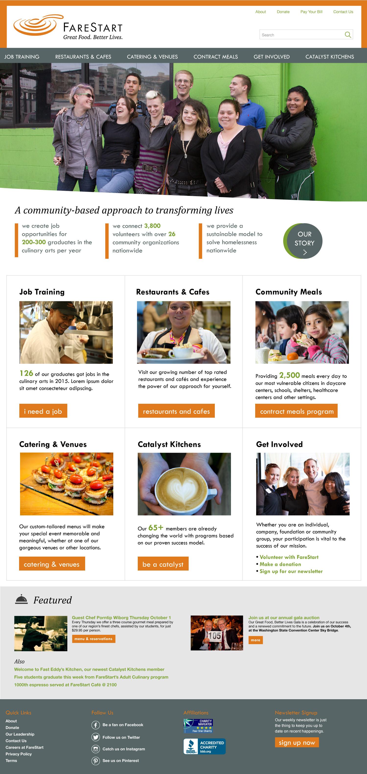 FareStart home page