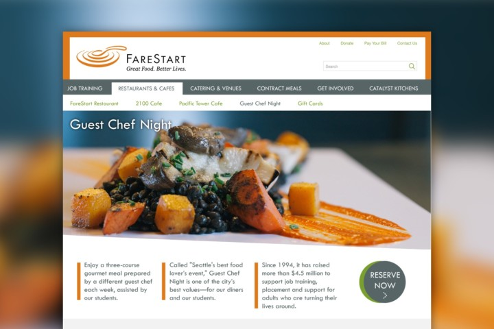 Nonprofit Website for FareStart