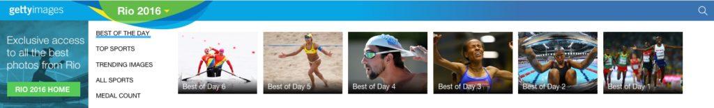 Olympics menu