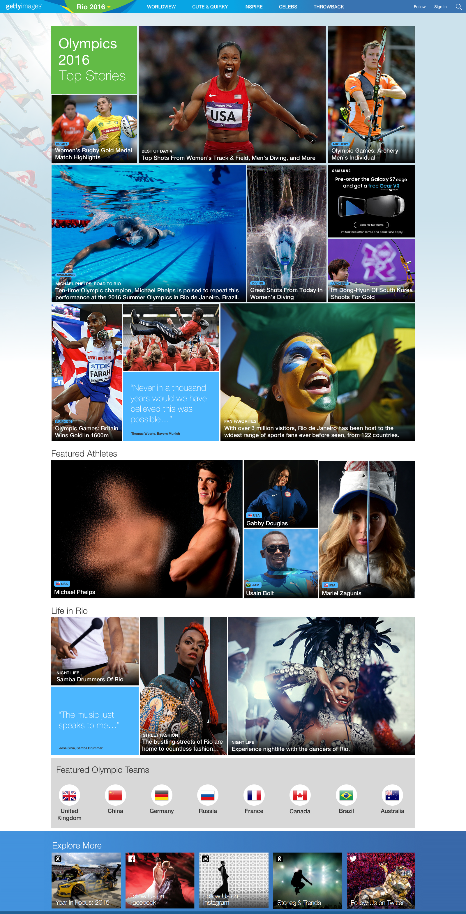 Olympics Website Hub
