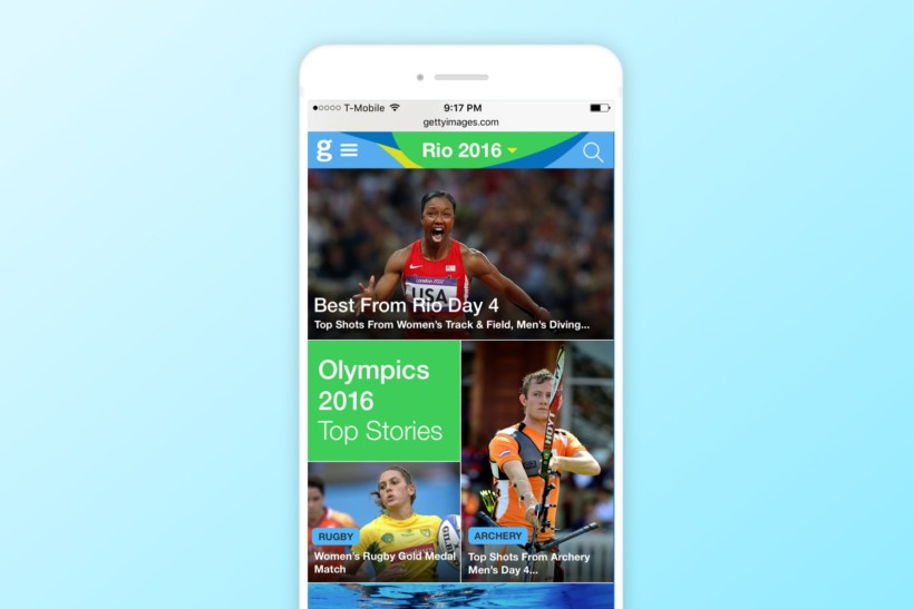 Getty Images Rio 2016 Olympics Website