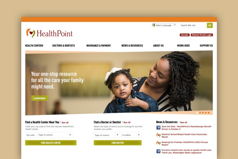 Community Medical Website for HealthPoint