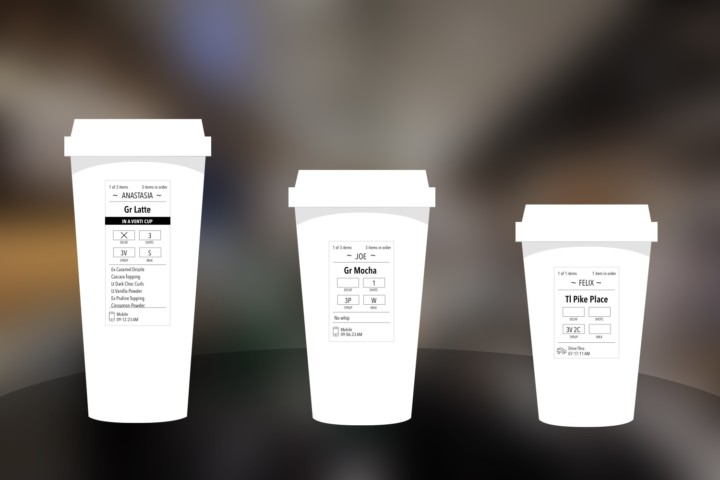 Starbucks Drink Label Research & Redesign
